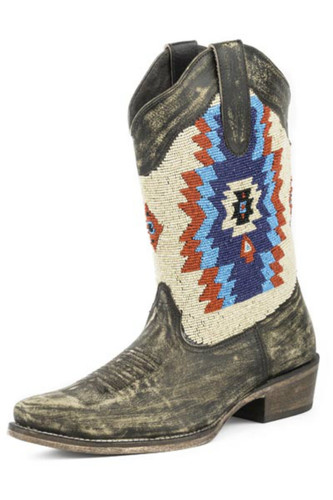 Woman's Roper Boots, Aztec Beaded