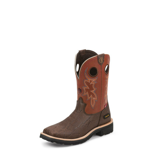 Men's Tony Lama Boot, Elephant Print, Composition Toe