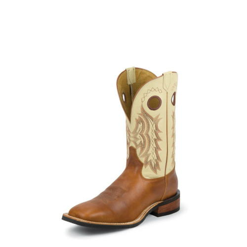 Men's Tony Lama Boot, Brown/Tan, Square Toe