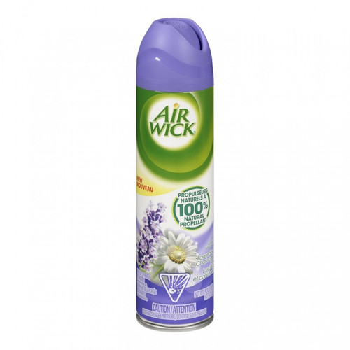 Aerosol Spray with a Lavender & Chamomile scent. Instant air fresheners that eliminate odors. Helps remove tough odors, keeping your home smelling fresh and inviting. Natural propellant for cleaner fragrance propelling a soft, gentle mist.