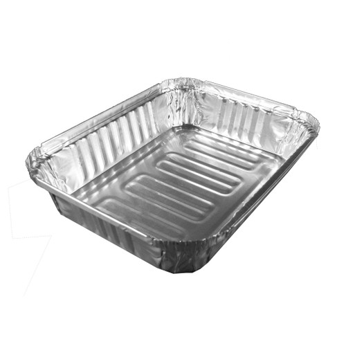 Handy foil aluminum takeout container. Perfect for keeping food warm. Easy storage,