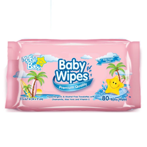 MY F.BABY WIPES-PINK 24/80PK