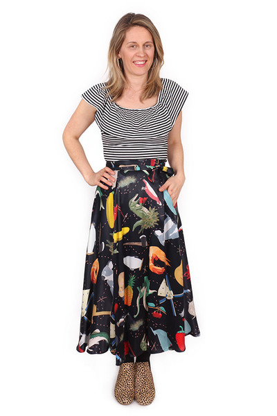 Every Body Valentina Skirt BLK Big Aussie Rd Trip