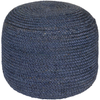 Tropics Pouf - Dark Blue