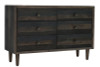 Smoked Grey 6 Drawer Dresser