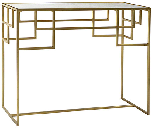 Brass Console w/Marble Top