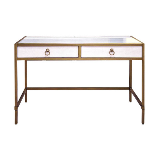 White Shagreen Writing Desk