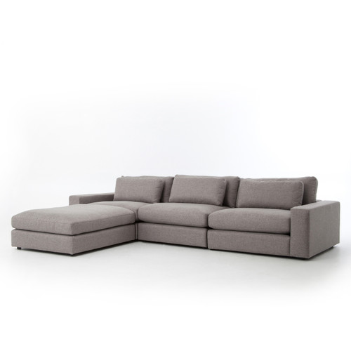 Kensington Sectional w/Ottoman - Pewter