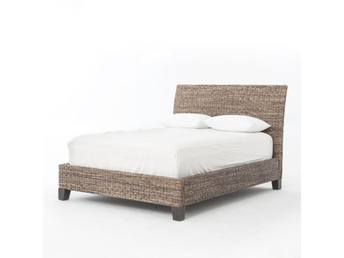 Grey Banana Leaf Bed - Queen