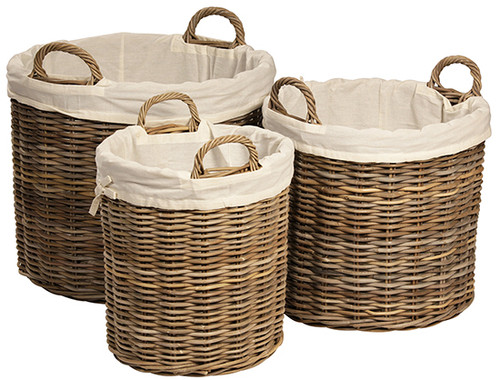 Set/3 Round Basket