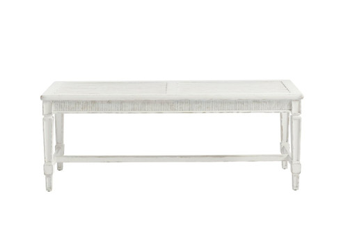 Century White Bed End Bench
