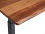 White Oak desk top corner detail