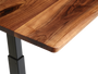 Black Walnut desk top corner detail