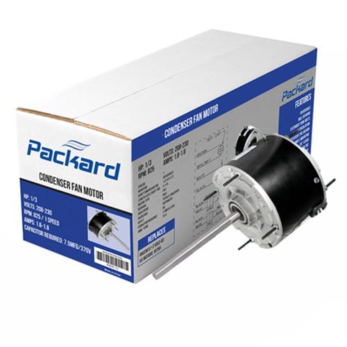 Packard 43733 Condenser Fan Motor 1/3HP 1075RPM 208-230V 1PH 48Y