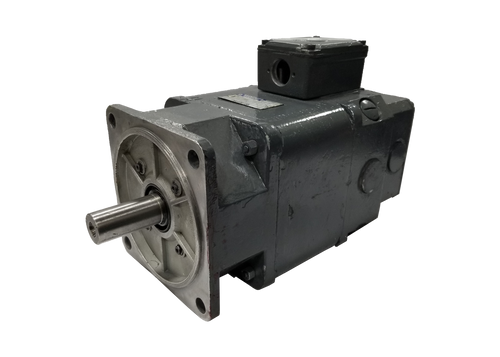 Baumuller Nurnberg 9E1881431 is a 0.55 kW 190 Volt 4200 RPM GSF 71-K Heidelberg DC servo motor with tachometer assembly used for ink fountain roller applications on older web presses.