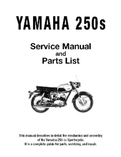 Yamaha YDS3 / YDS3C / YDS5 / YM1 / YM2C 1965-1969 Black