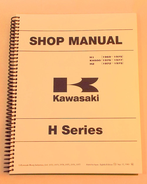 Kawasaki H1  Kh500  H2 Shop Manual  99997-711