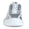 Brunswick Phantom Mens Bowling Shoes - White/Silver Carbon Fiber - Right Handed - front of shoe