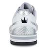 Brunswick Phantom Mens Bowling Shoes - White/Silver Carbon Fiber - Right Handed - back of shoe