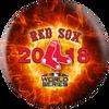OTBB Boston Red Sox Bowling Ball 2018 World Series Bowling Ball back