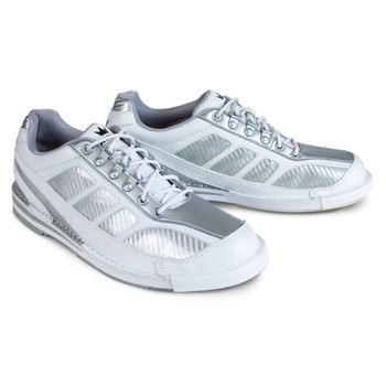 Brunswick Phantom Mens Bowling Shoes White/Silver Carbon Fiber Right Handed