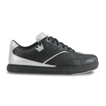 Brunswick Vapor Mens Bowling Shoes - Black/Silver - side view
