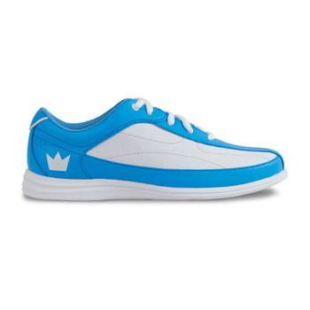 Brunswick Bliss Womens Bowling Shoes Blue/White - side view