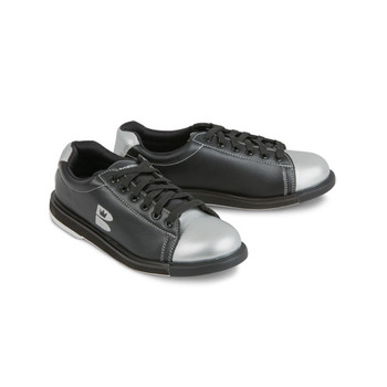 Brunswick TZone Youth Bowling Shoes - Black/Silver