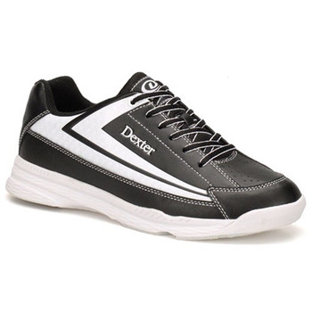 Dexter Jack II Mens Bowling Shoes - Black/White - WIDE