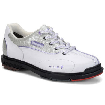 Dexter THE 9 Womens Bowling Shoes White/Silver/Lilac WIDE