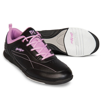 KR Strikeforce Capri Lite Womens Bowling Shoes - Black/Orchid setup