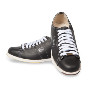 Linds Classic Mens Bowling Shoes Black Leather Left Handed