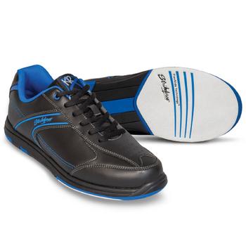 KR Strikeforce Flyer Mens Bowling Shoes Black/Mag Blue WIDE