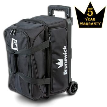 Brunswick Blitz Double Roller Bowling Bag - Black Bowling Bag