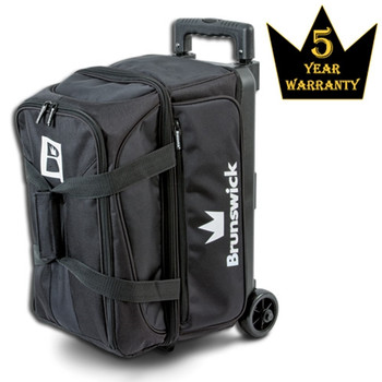 Brunswick Blitz Double Roller Bowling Bag - Black