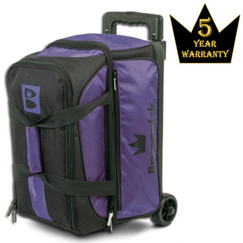 Brunswick Blitz Double Roller Bowling Bag - Purple