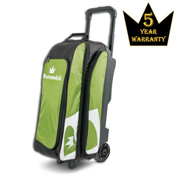 Brunswick Blitz Triple Roller Bowling Bag - Lime
