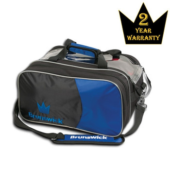 Brunswick Crown Double Tote with Pouch - Royal Bowling bag