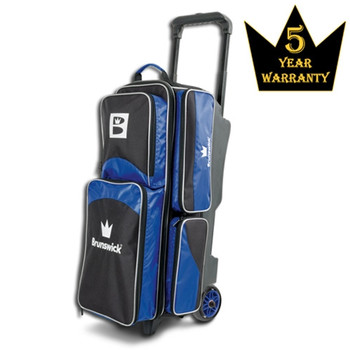 Brunswick Edge Triple Roller Bowling Bag - Blue
