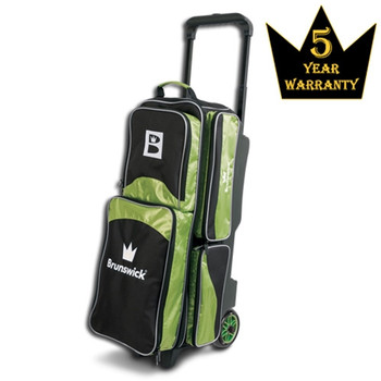 Brunswick Edge Triple Roller Bowling Bag - Lime