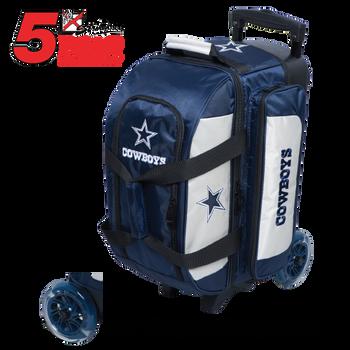 KR Strikeforce NFL Dallas Cowboys 2 Ball Roller Bowling Bag Standing