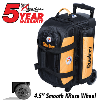 KR Strikeforce NFL Pittsburgh Steelers 2 Ball Roller Bowling Bag