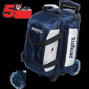 KR Strikeforce NFL New England Patriots 2 Ball Roller Bowling Bag Standing