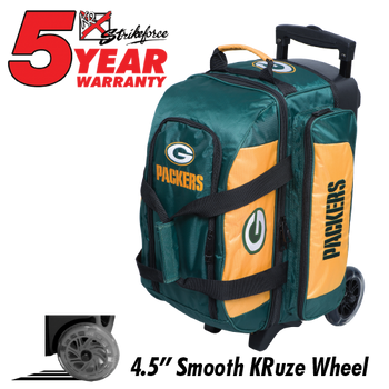 KR Strikeforce NFL Green Bay Packers 2 Ball Roller Bowling Bag
