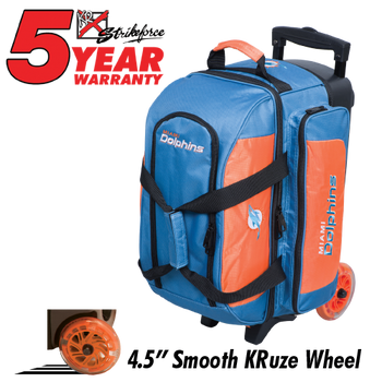 KR Strikeforce NFL Miami Dolphins 2 Ball Roller Bowling Bag Standing