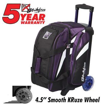 KR Strikeforce Cruiser Smooth 2-Ball Roller - Purple/White/Black