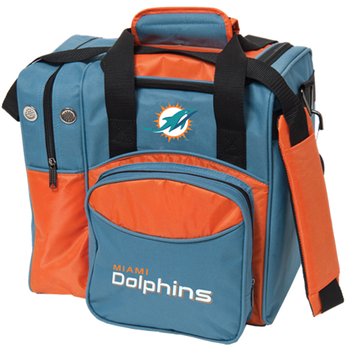 KR Strikeforce NFL Miami Dolphins 1-Ball Bowling Bag