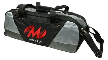 Motiv Ballistix Clear Top 3 Ball Tote Roller Black