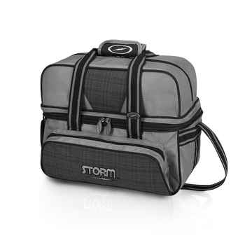 Storm 2 Ball Tote Deluxe Plaid/Grey/Black