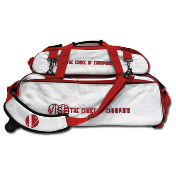 Vise 3 Ball Roller with Shoe Pouch White/Red
